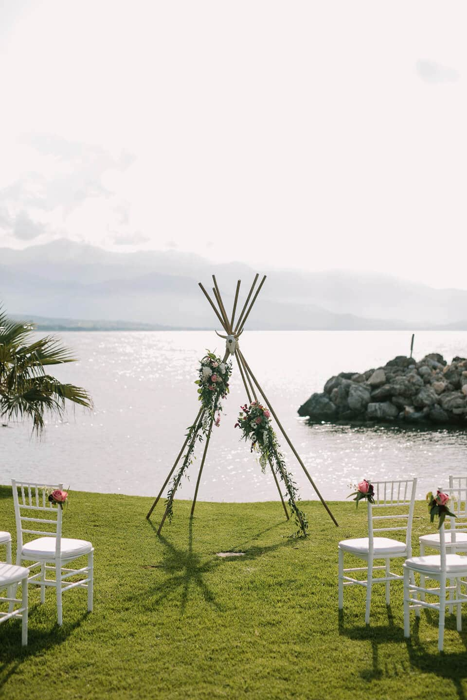 Seafront Garden Wedding Stepsis Wedding Planner Crete Greece
