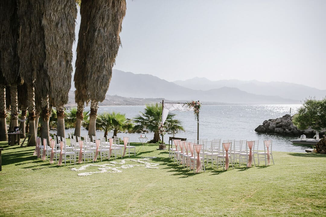seafront garden wedding Stepsis Wedding Planner Greece Crete